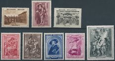 Belgium 1938/1939 - Full years without block with Rubenshouse and 3rd Orval - OBP 465A/26