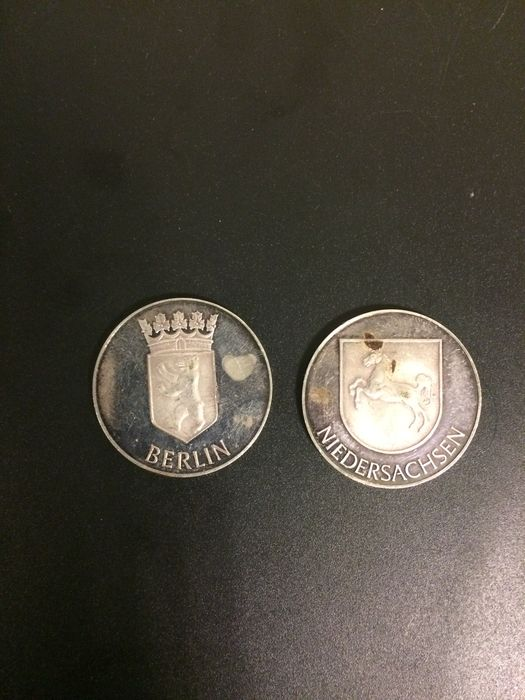 Germany - Two modern medals, Berlin, Nether Saxony - silver