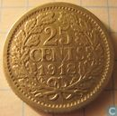 Coins - the Netherlands - Netherlands 25 cent 1918