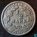 German Empire ½ mark 1906 (J)