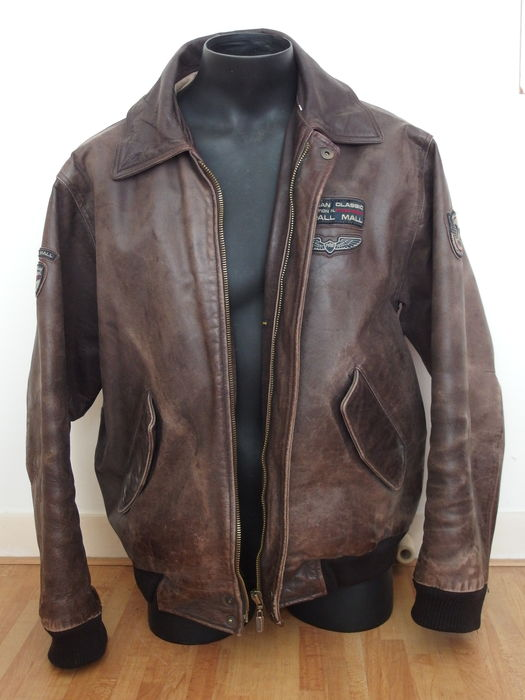 Ongebruikt Pall Mall - Leather pilot jacket - men - Colector's item - Catawiki LD-64