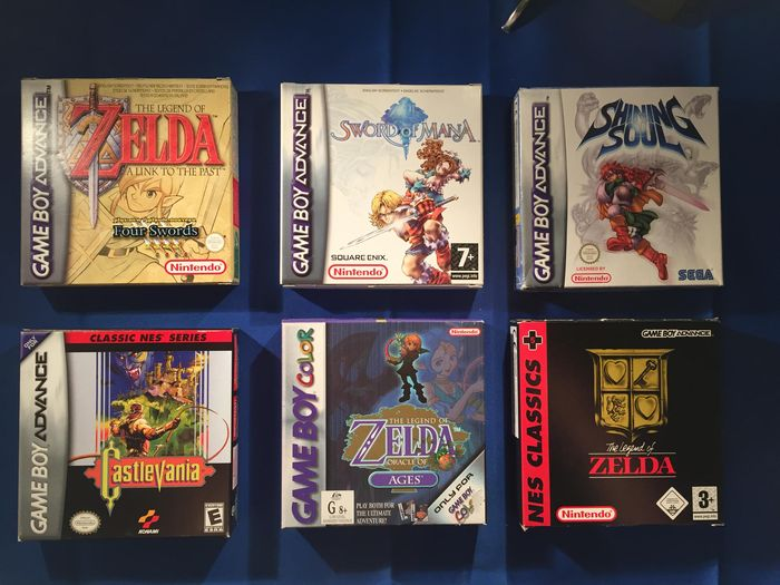 6 X Game Boy Advance Color Zelda Castlevania Amp 2 Rpg S