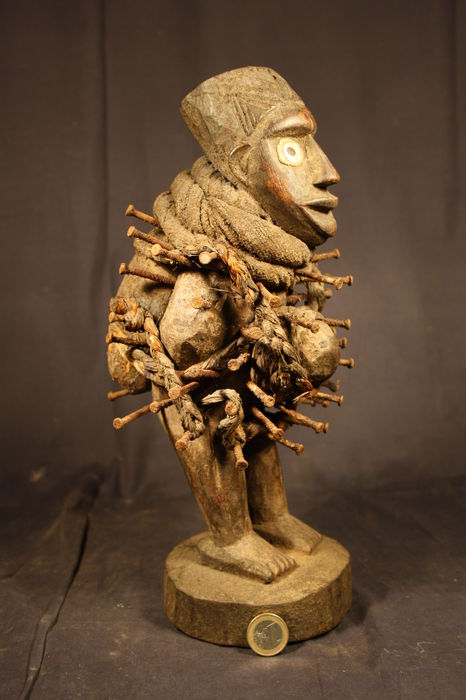 African Nail Fetish Figure NKISI - YOMBE - D.R. Congo
