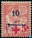 type Mouchon, double overprint