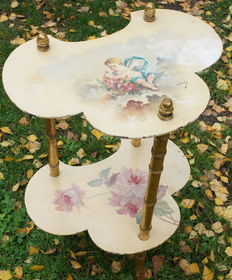 Painted and gold-plated small table - France - ca 1900