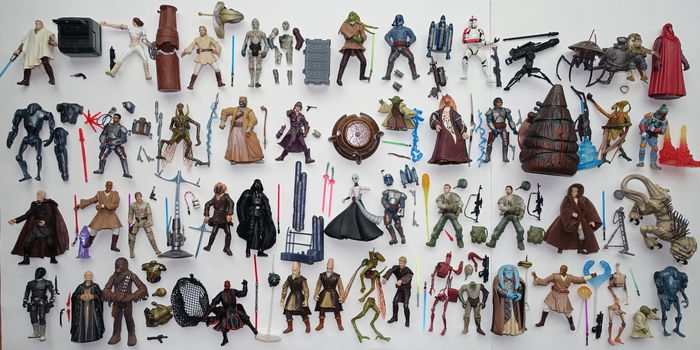 Star Wars -  Hasbro - 47 losse figuren