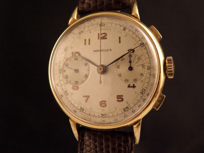 Mobilia chronograph men s watch 1940s catawiki for Mobilia s a
