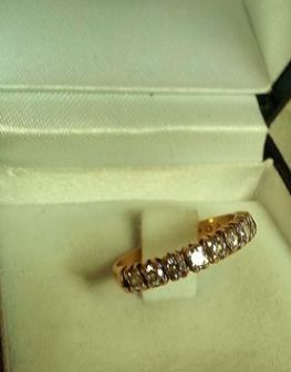 Anillo adornado con 9 diamantes, 0,54 ct