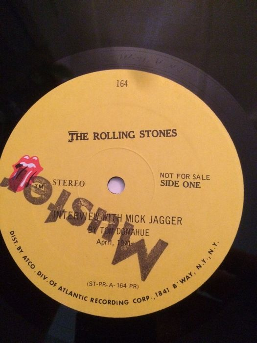 Promo LP an interview with Mick Jagger by Tom Donahue ...
