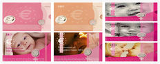 "The Netherlands - Year packs 2006/2012 ""Baby sets girl"" with medal (7 different)"