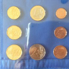 Belgium – Year collections 1 Cent to 2 Euro 2000 en 2001