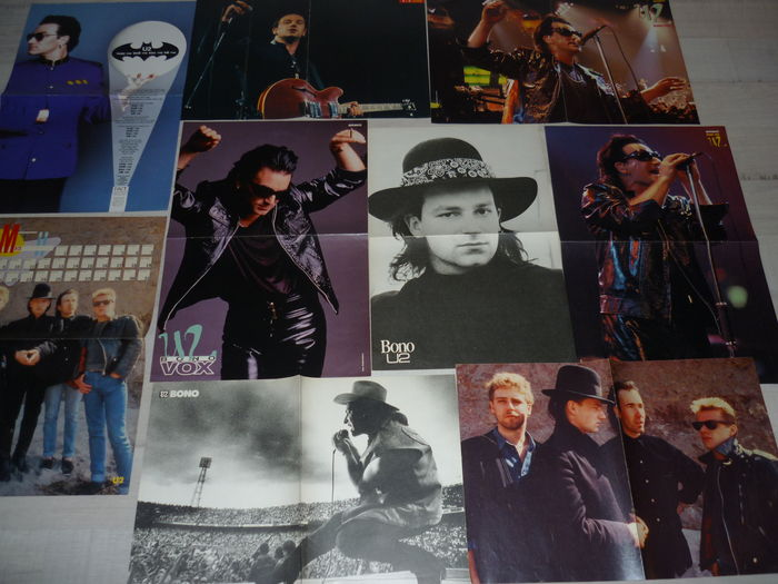 U2  - Huge archive of articles,posters and clippings