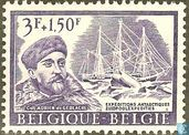 "Postage Stamps - Belgium [BEL] - Adrien de Gerlache and three-masted Barque ""Belgica"""