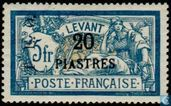 TEO overprint on stamps Levant