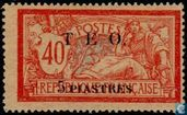 TEO imprint on French stamps