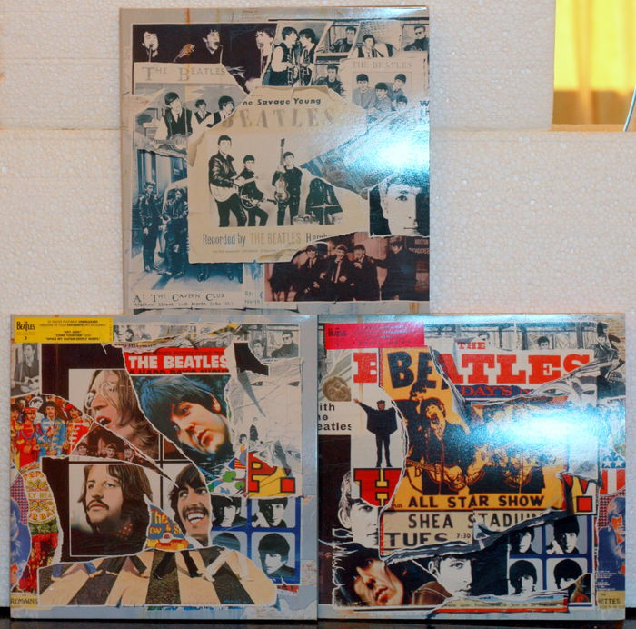 The beatles Anthology 1, 2 and 3 Lot Three Boxes a Three LPs