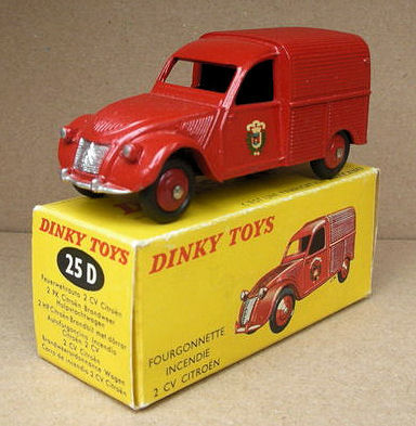 dinky toys schaal 1 43 citro n 2cv fourgonnette pompiers d catawiki. Black Bedroom Furniture Sets. Home Design Ideas