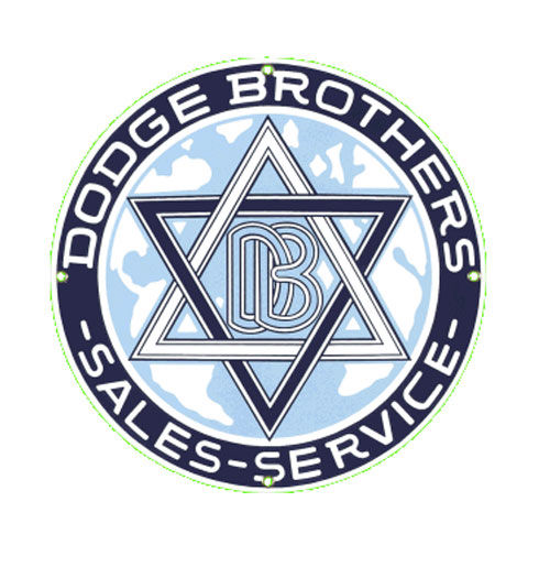 Dodge Brothers Sales Service Emaille Logo Bord