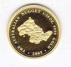 "Australië - 4 Dollars 2005 ""The Australian Nugget"" - goud"
