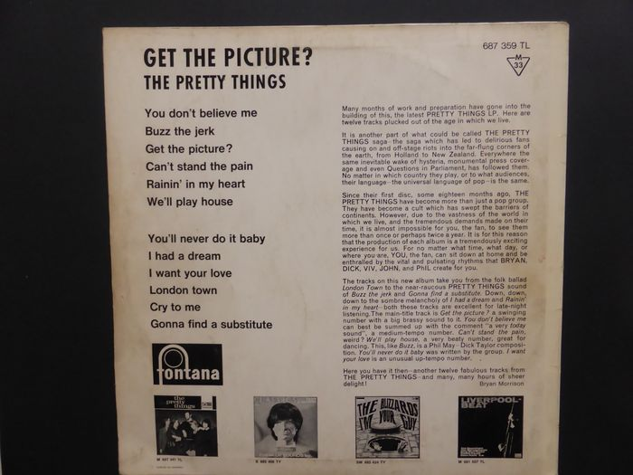 Lot of two Dutch only mono versions of The Pretty Things
