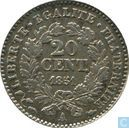 France 20 centimes 1851