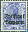 "Germania marked ""Freistaat Bayern\"""