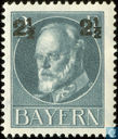 King Ludwig III. of Bavaria with overprint