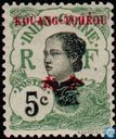 Woman Annam, with overprint