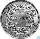 France 1 quart 1807 (A - head with laurel wreath)