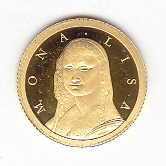 "Democratic Republic of Congo – 10 Francs 2006 ""Mona Lisa""  – gold"