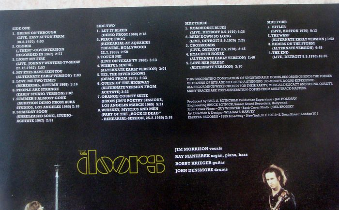 The Doors - Absolutely Rare -2 LPu0027s  sc 1 st  auctions - Catawiki & The Doors - Absolutely Rare -2 LPu0027s - Catawiki