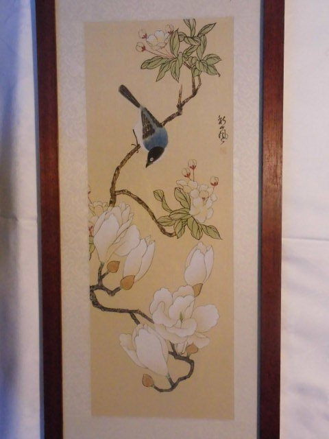 A chinese silk painting flowers with bird motif china second a chinese silk painting flowers with bird motif china second half 20th century mightylinksfo