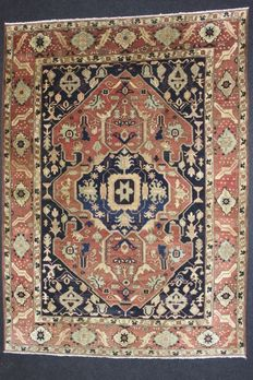 Magnificent FARAHAN carpet, Afghanistan, 20th century, 378 x 268 cm, knotted by hand