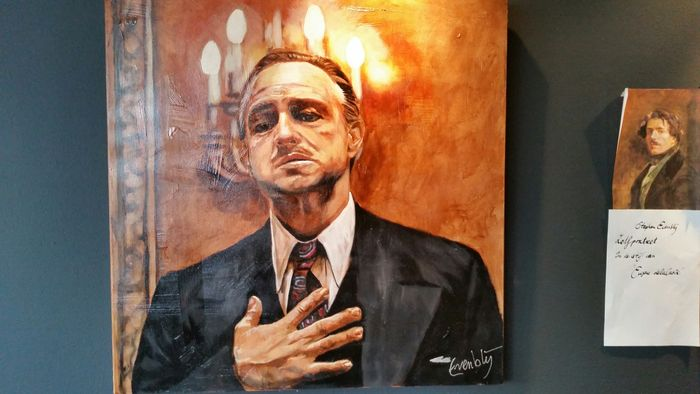 The godfather the family preach gicl e 100x100cm for Stephan evenblij