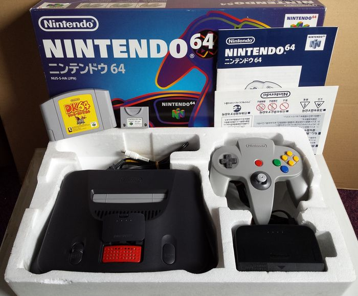 Japanese Nintendo 64 Console Boxed With Expansion Pak Controller Donkey Kong