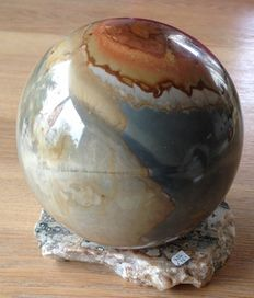 Large Polychrome Jasper Sphere- 12.5 cm - 3055 gm