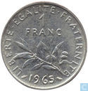 France 1 franc 1965 (little owl)