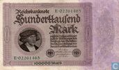 Reichsbanknote 100 000 Mark 1923 E.02261465