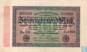 Reichsbanknote 20000 Mark 1923