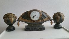 Limousin - Art Deco clock set