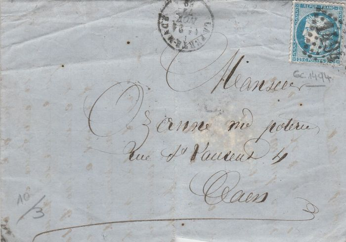 letter of interest 1850 1878 batch of 40 letters with napol 233 on and 10841