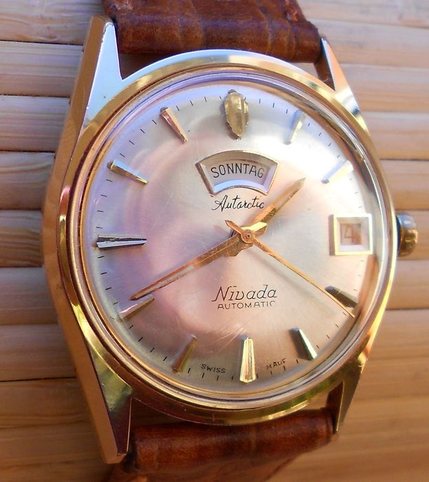 NIVADA SWISS , Automatic DAY DATE- Men's wristwatch - 1960s/70s