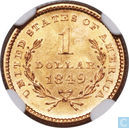 United States of America 1 dollar 1849 (Open Wreath, so-called Small Head, no L)