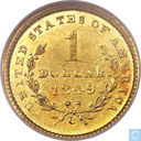 Verenigde Staten 1 dollar 1849 C (Open Wreath)