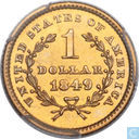 United States of America 1 dollar 1849 (Closed Wreath)