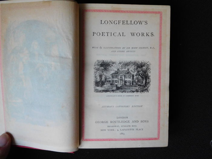Poetry; H.W. Longfellow - Longfellow's Poetical Works - 1883