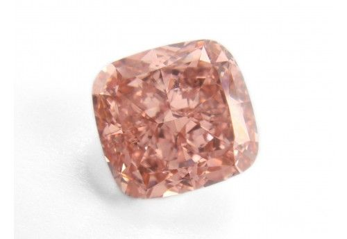 Diamant - 0.15 ct - Kissen - fancy intens orangy pink - VS1