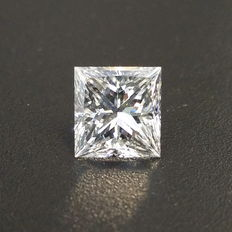 2.01ct princess-cut diamond G VVS2