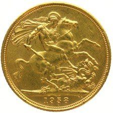 England, Sovereign 1958 – Elizabeth II – gold