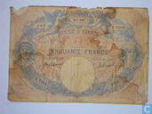 FRANCE - 1889 50 francs bleu et rose